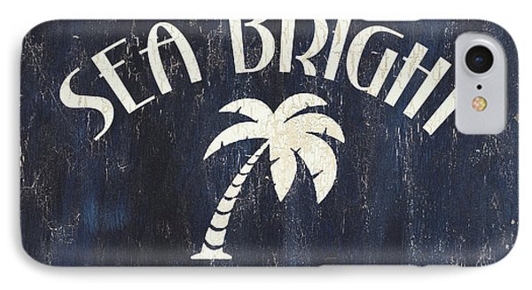 Beach Badge Sea Bright IPhone Case by Debbie DeWitt