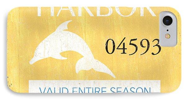 Dolphin iPhone 7 Case - Beach Badge Stone Harbor by Debbie DeWitt