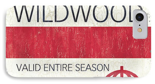 Beach Badge Wildwood 2 IPhone Case by Debbie DeWitt