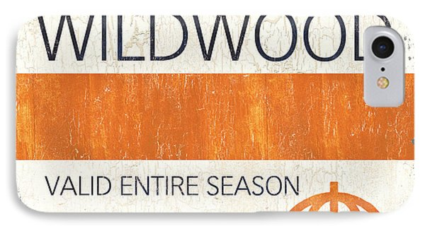 Beach Badge Wildwood IPhone Case by Debbie DeWitt