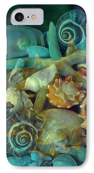 IPhone Case featuring the mixed media Beach Beauty 10  by Lynda Lehmann