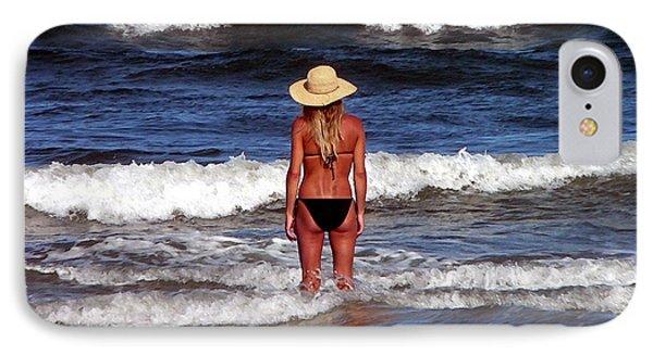 Beach Blonde - Digital Art IPhone Case by Al Powell Photography USA