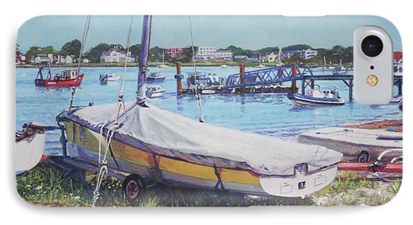 IPhone Case featuring the painting Beach Boat Under Cover by Martin Davey