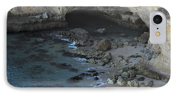Beach Cave From The Cliffs In Malhada Do Baraco IPhone Case by Angelo DeVal