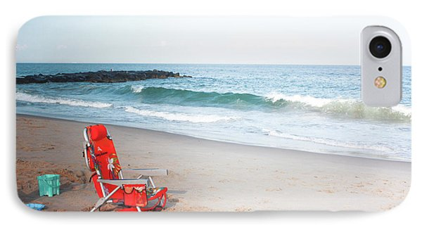 IPhone Case featuring the photograph Beach Chair By The Sea by Ann Murphy