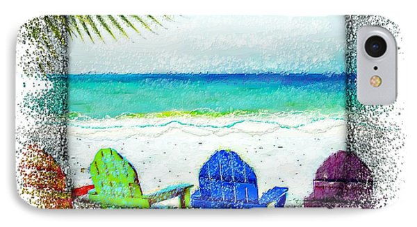 Beach Chairs In Paradise IPhone Case