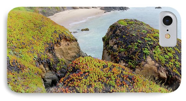 Beach Coves At Pigeon Point IPhone Case