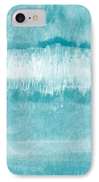 Beach Day Blue- Art By Linda Woods IPhone Case