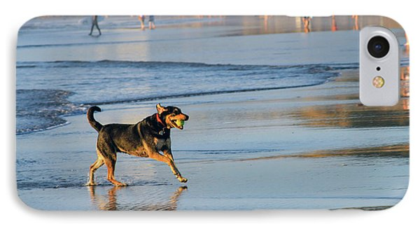 Beach Dog Playing Fetch IPhone Case