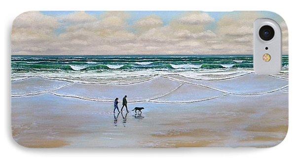 Beach Dog Walk Phone Case by Frank Wilson