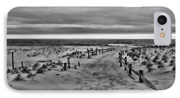 Beach Entry In Black And White IPhone Case by Paul Ward
