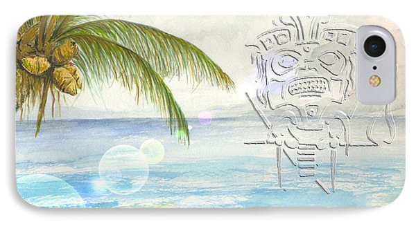IPhone Case featuring the digital art Beach Etching by Darren Cannell