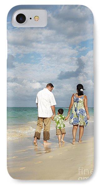 Beach Family Phone Case by Brandon Tabiolo - Printscapes