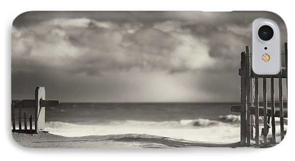 Beach Fence - Wellfleet Cape Cod IPhone Case by Dapixara Art