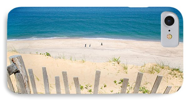 beach fence and ocean Cape Cod IPhone Case