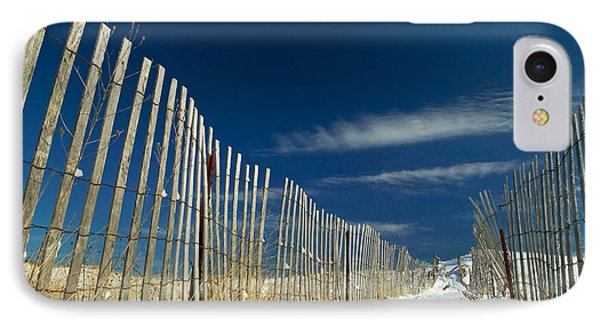 Beach Fence And Snow Phone Case by Matt Suess