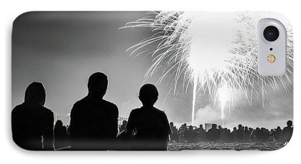 Beach Fireworks IPhone Case