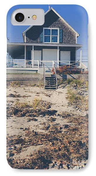 Beach Front Cottage IPhone Case by Edward Fielding