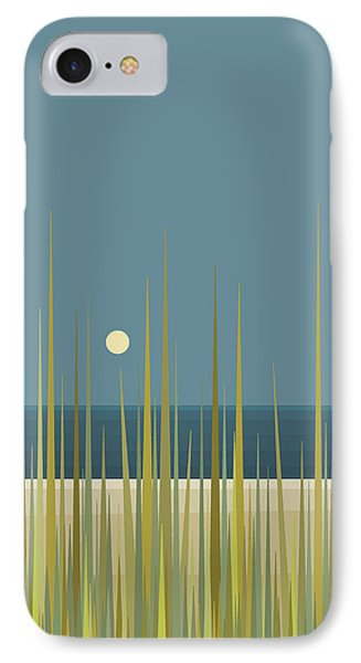 IPhone Case featuring the digital art Beach Grass And Blue Sky by Val Arie