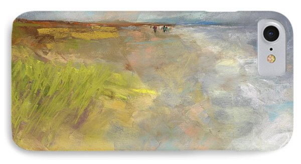 IPhone Case featuring the painting Beach Grasses by Frances Marino