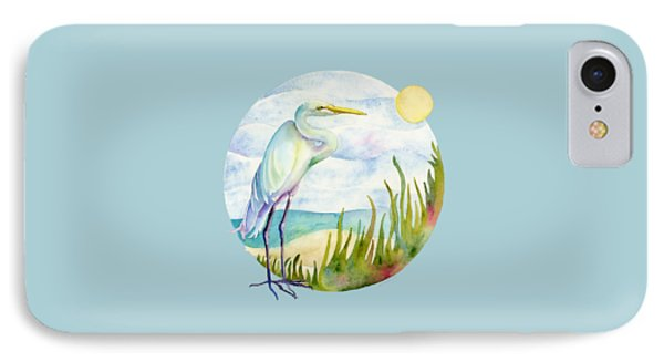 Beach iPhone 7 Case - Beach Heron by Amy Kirkpatrick