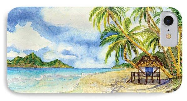 Beach House Cottage On A Caribbean Beach IPhone Case