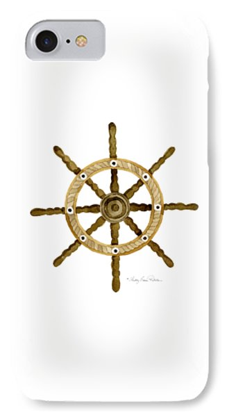 Beach House Nautical Boat Ship Anchor Vintage IPhone Case by Audrey Jeanne Roberts