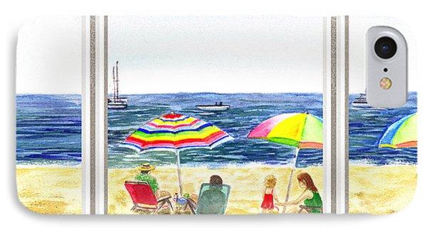 Beach House Window IPhone Case by Irina Sztukowski