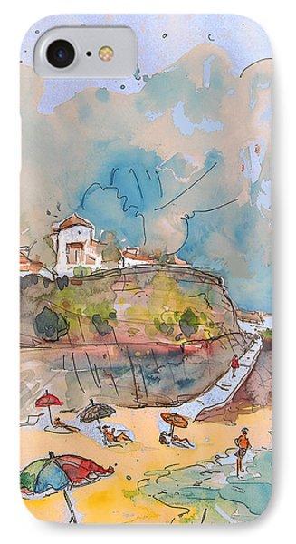 Beach In Ericeira In Portugal Phone Case by Miki De Goodaboom