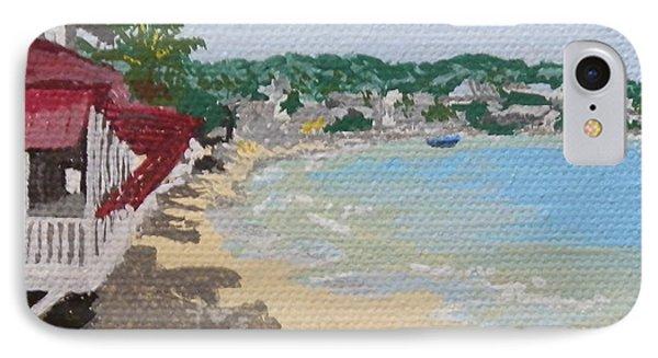 Beach In Grand Case IPhone Case by Margaret Brooks