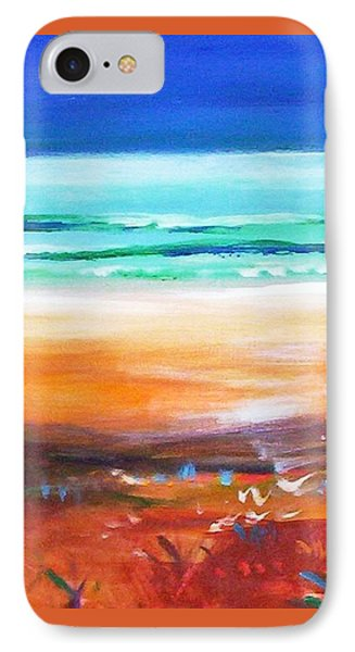 IPhone Case featuring the painting Beach Joy by Winsome Gunning