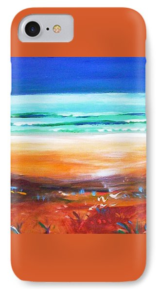 IPhone 7 Case featuring the painting Beach Joy by Winsome Gunning