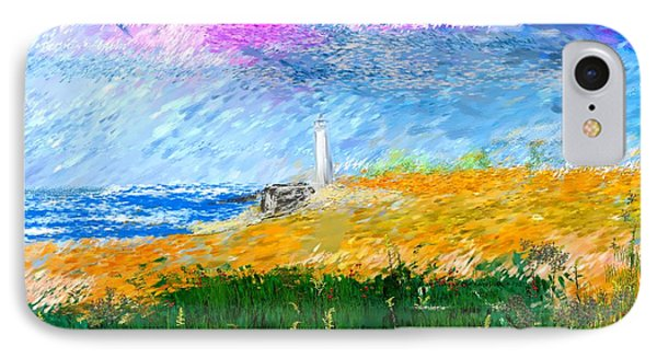 Beach Lighthouse Phone Case by David Lane