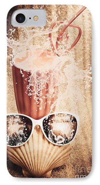 Beach Milkshake With A Strawberry Splash IPhone Case