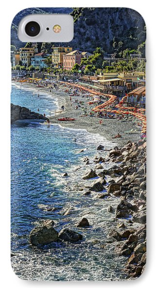 Beach Monterosso Italy Dsc02467 IPhone Case by Greg Kluempers