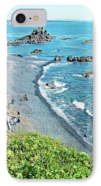 Beach Near Yaquina Lighthouse On Yaquina Head Outstanding Natural Area In Newport, Oregon IPhone Case