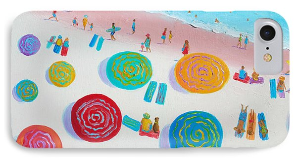 Beach Painting - A Walk In The Sun IPhone Case by Jan Matson