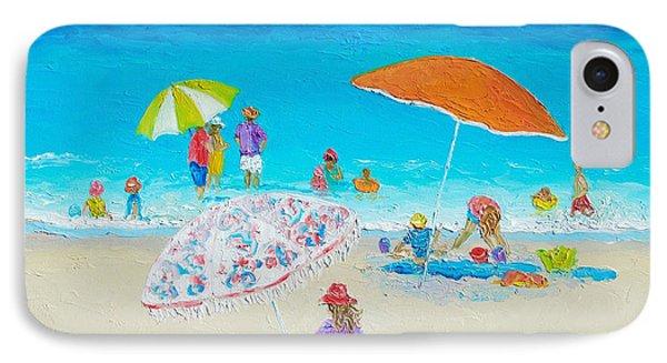 Beach Painting - Blazing Hot  IPhone Case by Jan Matson