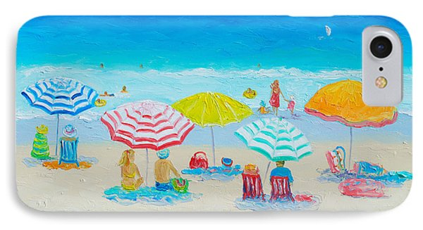 Beach Painting - Catching The Breeze IPhone Case by Jan Matson