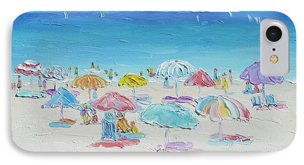 Beach Painting - Summer Paradise IPhone Case by Jan Matson
