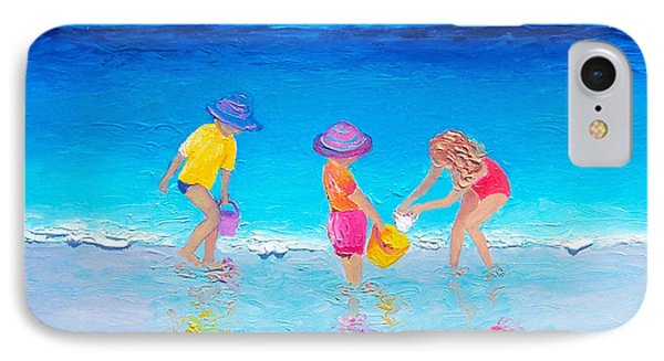 Beach Painting - Water Play  IPhone Case