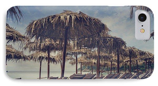 Beach Parasols IPhone Case by Jelena Jovanovic