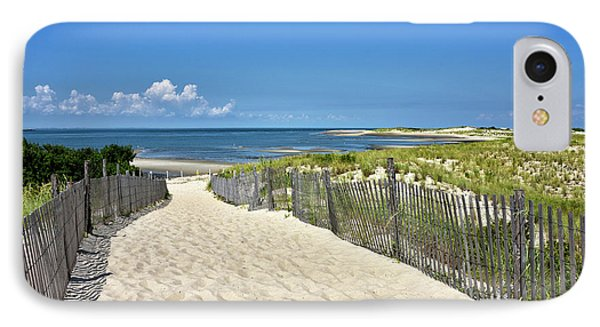 Beach Path At Cape Henlopen State Park - The Point - Delaware IPhone Case by Brendan Reals