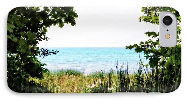 IPhone Case featuring the photograph Beach Path With Snake Grass by Michelle Calkins
