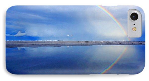 Beach Rainbow Reflection IPhone Case