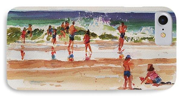 Beach Scene, Afternoon Phone Case by Peter Salwen