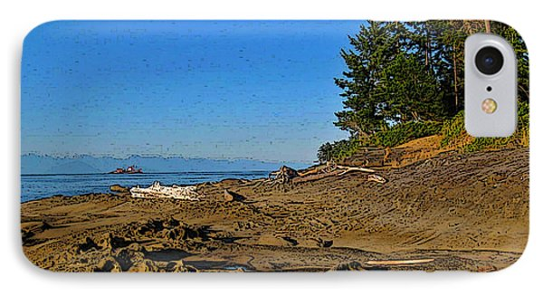 Beach Scene, Berry Point, Gabriola, Bc IPhone Case