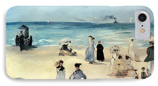Beach Scene IPhone Case by Edouard Manet