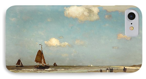 IPhone Case featuring the painting Beach Scene by Jan Hendrik Weissenbruch