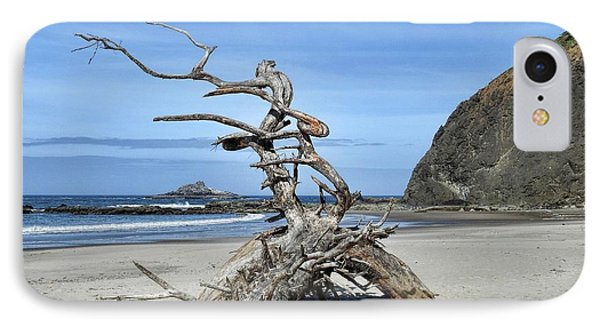 IPhone Case featuring the photograph Beach Sculpture by Peggy Hughes